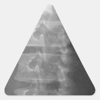 Pegatina Triangular síndrome del perro del escocés