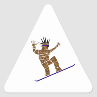 Pegatina Triangular Snowboarder