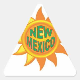 Pegatina Triangular Sol de New México