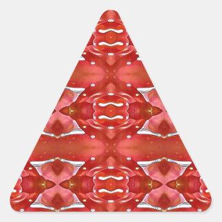 Pegatina Triangular Sombras del diseño festivo moderno rojo