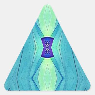Pegatina Triangular Sombras modernas vibrantes de la menta azul del