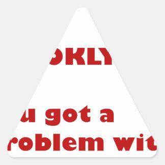 Pegatina Triangular Soy de Brooklyn