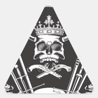 Pegatina Triangular Sr. Skull