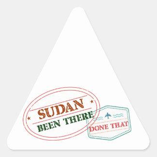 Pegatina Triangular Sudán allí hecho eso