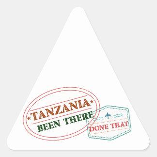 Pegatina Triangular Tanzania allí hecho eso