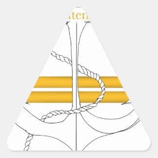 Pegatina Triangular teniente del oro, fernandes tony