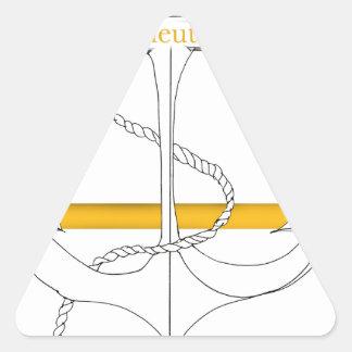 Pegatina Triangular teniente sub del oro, fernandes tony