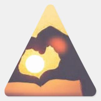 Pegatina Triangular th