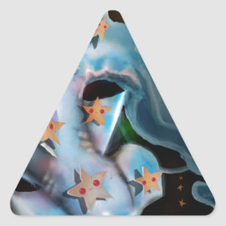 Pegatina Triangular Tiburón-Hammerhead