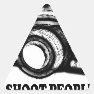 Pegatina Triangular Tiro a gente
