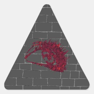 Pegatina Triangular Todo-Ver el ojo