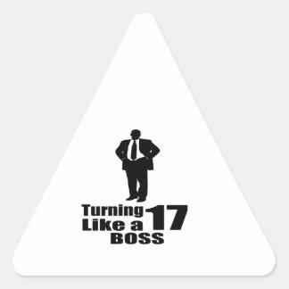 Pegatina Triangular Torneado de 17 como Boss