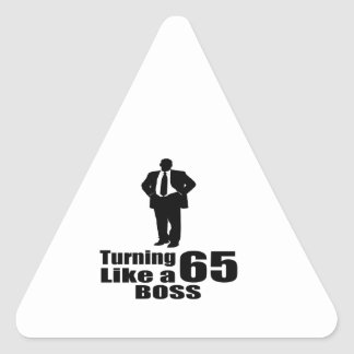 Pegatina Triangular Torneado de 65 como Boss