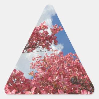 Pegatina Triangular Torrente de flores