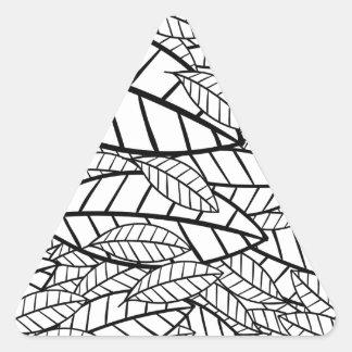 Pegatina Triangular tropical grande