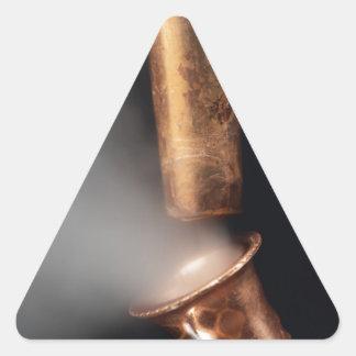 Pegatina Triangular Tubos de cobre con vapor