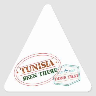 Pegatina Triangular Túnez allí hecho eso