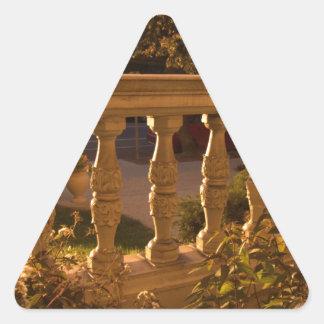 Pegatina Triangular Última hora de la tarde