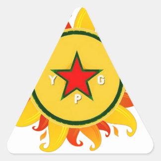 Pegatina Triangular ypg - sol