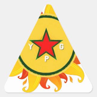 Pegatina Triangular ypg - sol 2 a
