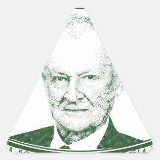 Pegatina Triangular Zbigniew Brzezinski en dios que confiamos en