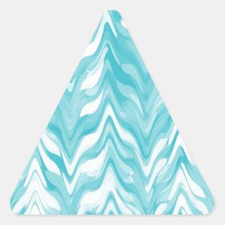 Pegatina Triangular zigzag, acuarela, elegante, elegante