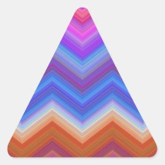 Pegatina Triangular zigzag, colorido, divertido