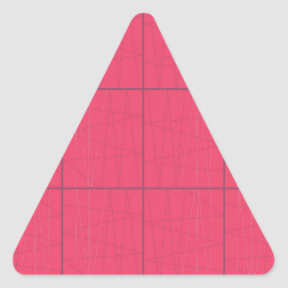 Pegatina Triangular Zigzag rosado de los elementos del diseño