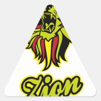 Pegatina Triangular Zion. Iron Lion Zion HQ Color Edition