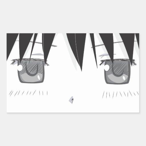 Pegatina Unamused de los ojos