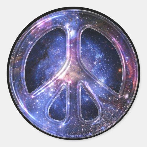 Pegatina universal de la paz