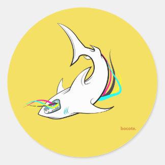 Pegatina v1 del tiburón de Bocote