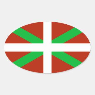 Pegatina vasco de Ikurrina de la bandera