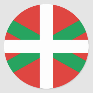 Pegatina vasco de la bandera