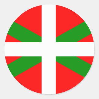 Pegatina vasco de la bandera de Ikurrina