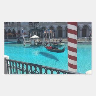 Pegatina veneciano de Italia del agua del barco de