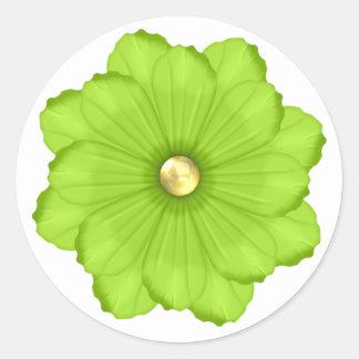 Pegatina verde claro del sello del sobre de la