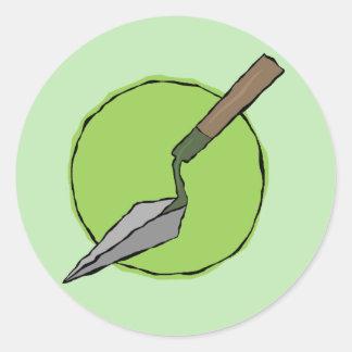 Pegatina verde de la paleta - equipo de la