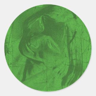 Pegatina verde de las reflexiones