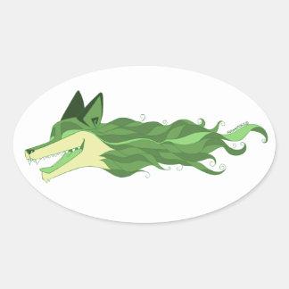 Pegatina verde vivo del Fox violentamente