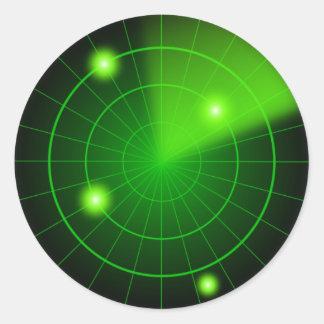 Pegatina verde y negro del radar