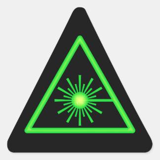 Pegatina verde y negro del símbolo del laser
