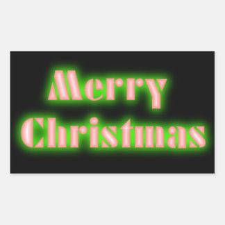 Pegatina verde y rojo negro de las Felices Navidad