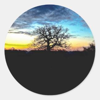 Pegatina vibrante de la puesta del sol