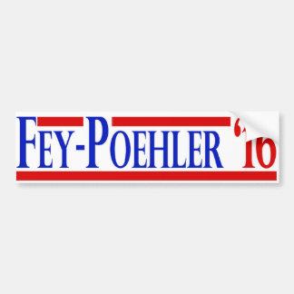 Pegatina vidente/de Poehler 2016 de la campaña