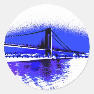 Pegatina violeta del puente de Verrazano