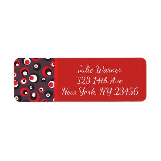 Pegatinas abstractos rojos, negros, blancos del