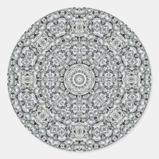 Pegatinas blancos del modelo de la hoja, 7 formas pegatina redonda