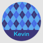 Pegatinas conocidos personalizados K iniciales del