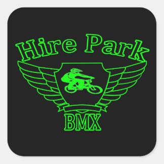 Pegatinas cuadrados del parque BMX del alquiler Pegatina Cuadrada